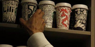 Дизайн бумажных стаканов для кофе