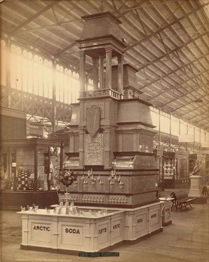Автомат газированной воды Мамонт на Всемирной выставке 1876 года